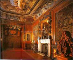 """Kings Dining Room - Windsor Castle. Ceiling """"A Banquet of the Gods"""" was painted by Antonio Verrio in the 1680s."""