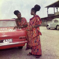 Two women talking, Ghana, 1967-69, photograph by James Barnor.
