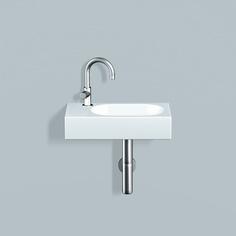 Alape håndvask i hvid glaseret med oval vask til højre - Dornbracht - VVS Comfort