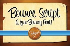 One of my new favorite script fonts to cut in vinyl with my Silhouete Cameo! Bounce Script by Borges Lettering on Creative Market