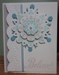 Résultats de recherche d'images pour «snowflake soiree stampin up card»