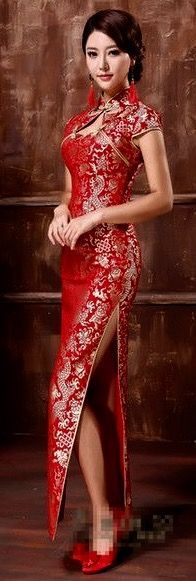 b235814aca This is a cheongsam dress because of the tight fitted design and the mock  neckline. Karen Banks · Chinese dresses