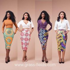 Few Skirts left on these Limited Vlisco Skirts!!!!! Few Hours left to get upto 50% off, entire website.  www.grass-fields.com