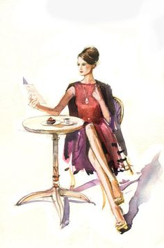 Watercolors for Lambre. Part 1. by Veronika Kalacheva, via Behance