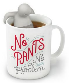 Look at this 'No Pants' Mr. Tea Infuser & Mug Set on #zulily today!