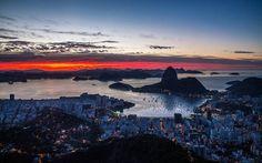 O Rio e o espetáculo do sol por aqui <3 🔹 Foto por @rafaelpacheco, postada no Instagram com a tag #visitrio
