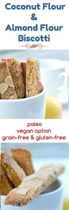 Coconut Flour-Almond Flour Biscotti {paleo + vegan option} | power hungry