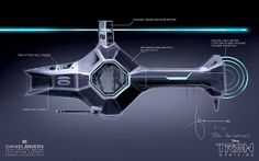 Fashion and Action: TRON Uprising Light Chopper Concept Art by Daniel Simon