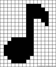 pixel art note de musique