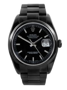 All-black stainless steel rolex datejust