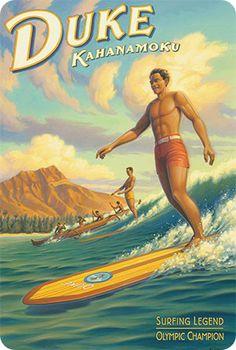 travel idea hawaii New travel poster hawaii vintage surf 60 Ideas - - Hawaiian Art, Vintage Hawaiian, Aloha Vintage, Vintage Tiki, Vintage Art, Vintage Travel Posters, Vintage Postcards, Vintage Surfing, Party Vintage