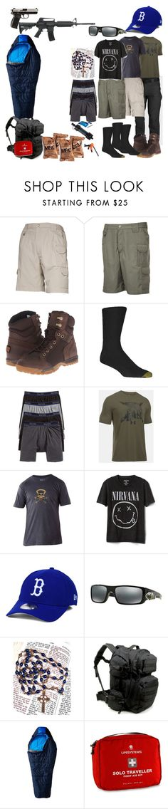 """Odin"" by tiffany-earley on Polyvore featuring 5.11 Tactical, Gold Toe, Hanes, Gap, New Era, Oakley, Mountain Hardwear, Handle and RIFLE"