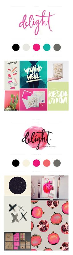 Love this pretty branding board! Delight Branding by Lauren Ledbetter Design & Styling Web Design, Design Sites, Design Visual, Logo Design, Graphic Design Branding, Identity Design, Typography Design, Packaging Design, Identity Branding
