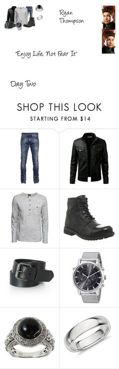 """Ryan Thompson Worlds Colliding (The Vampire Diaries) 8.15 ""Enjoy Life, Not Fear It"""" by mysticfalls1997 ❤ liked on Polyvore featuring H&M, Wrangler, Tommy Hilfiger, Dallas Prince, GALA, men's fashion and menswear"