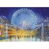 Skaters at the London Eye Christmas Cards