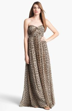 Jenny Yoo 'Aidan' Convertible Leopard Print Long Chiffon Gown (Online Only) available at #Nordstrom-bridal shower or bachelorette party dress