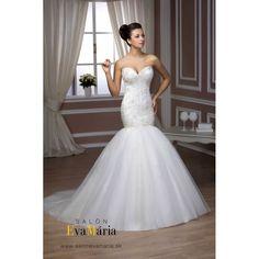 Biele svadobné šaty Marlin Beaded Lace, Bridal Dresses, Salons, Collection, Lace Flowers, Mermaid Wedding, Design, Wedding Ideas, Fashion