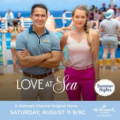 Life on a cruise ship, far off destinations, and falling in love. Sounds like a Hallmark Channel's Summer Nights movie - LOVE AT SEA!