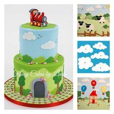 FMM Sugarcraft Emporte-pièces pour gâteaux fantaisies Formes de nuages, moutons, buissons, arbres et bulles de parole: Amazon.fr: Cuisine & Maison