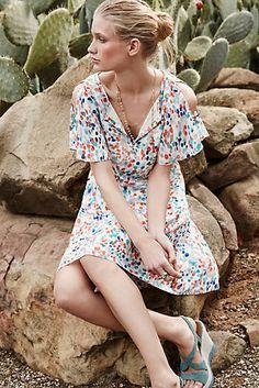 Fluttered Watercolour Dress