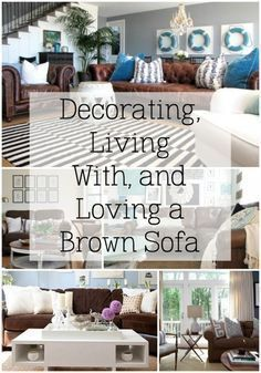 Brown Couch In Living Room. Brown Couch In Living Room. 4 Farmhouse Living Room Maintenance Mistakes New Owners Make Dark Brown Couch, Brown Couch Living Room, Blue And Brown Living Room, Dark Sofa, Brown Brown, Cozy Living, Ethnic Home Decor, Grey Home Decor, Coastal Living Rooms