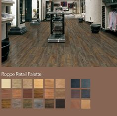 Leather and wood VCT tiles for flooring. Eco friendly like Marmoleum.