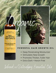 Raw Jamaican Black Castor Oil w/Rosemary & Thyme Herbs