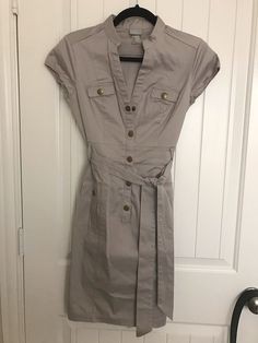 My H&M khaki dress with belt by H&M. Size 4 / S for $$25.00: http://www.vinted.com/womens-clothing/casual-dresses/22684668-hm-khaki-dress-with-belt.