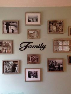 Family Gallery Wall In 2019 Home Decor Family Pictures Modern Picture Wall Idea. Collage Mural, Collage Photo, Family Wall Collage, Family Wall Decor, Photo Collages, Tree Collage, Family Room, Collage Picture Frames, Family Pictures On Wall