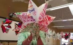"""Star made from 7 paper lunch bags...by """"Art Teacher Life"""""""