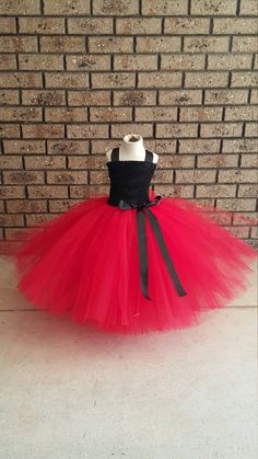 Red Black Tutu Dress Red Black Flower girl by FunkidsandUsBoutique
