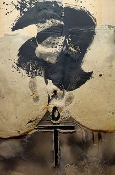 Antoni Tapies - Principio (1995) Mixed media