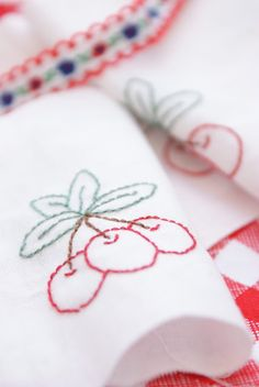 Cherry Stitching, simple but pretty