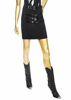 """Versace - """"Vunk"""" Belted Mini Skirt"""