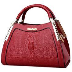 11405a68fc 2016 New Winter Ladies Messenger Handbags Crocodile Pattern Handbags Women  Bags Fashion Wild Middle-aged Mom Package Tote Bolsas