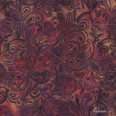 Island Batik Cotton - Spiced Wine KG09-Q1