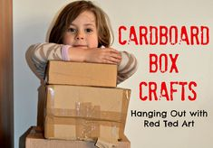 More Cardboard Box Craft Ideas! Be sure to recycled all those boxes after the madness of Christmas. There are SO many things you can make from the humble cardboard box! Take a peak!!