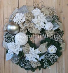 Chrismas Wreath Designer Holiday wreath by SignsStuffnThings, $280.00