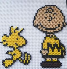 Charlie Brown and Woodstock hama beads by ju_moet