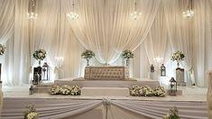 Simplicity..... #malaywedding  #onlyfreshflowers  #whitewedding  #kawinsg Reception Stage Decor, Wedding Reception Backdrop, Wedding Entrance, Wedding Mandap, Church Wedding, Wedding Bells, Wedding Hall Decorations, Backdrop Decorations, Wedding List