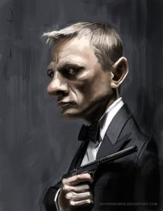 Daniel Craig as James Bond by ~DevonneAmos on deviantART