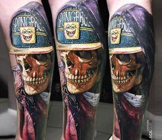 Skull tattoo by Sasha O Kharin