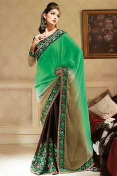 Awe-Inspiring #Saree in #TheEmbellishedCarnival Our Price: Starts from INR 1,599 Shop Now:http://www.admyrin.com/catalogs/rangbhumi.html#Saree #Sari #Casual #Party #MirrorWork #Embroidery #COD #Sale #GreatDeal