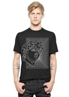 Black retrofuturist tee