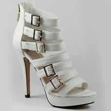 Strappy  Open Toe Platform Dress Heel Delicious Taree-s