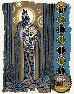 The Melvins 2009 Concert Poster by Guy Burwell