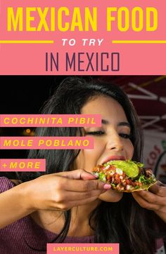 Explore this guide and find the best recipes you MUST try if traveling to Mexico. Tacos, enchiladas, guacamole, and more!... A paradise for foodies! #mexicotravel #mexicanfood #culturaltravel #traveldestinations #backpacking #traveltips