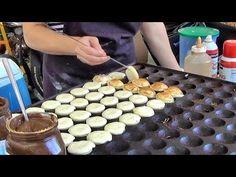 "Cooking Sweet Dutch Pancakes ""poffertjes"" in Camden Lock Market French Toast Waffles, Dutch Pancakes, Crepes And Waffles, Mini Pancakes, Dutch Recipes, Gourmet Recipes, Ebelskiver Recipe, Pancake Bites, The Pancake House"