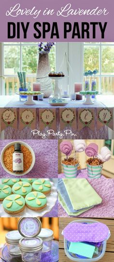Lovely in Lavender DIY Spa Party Idea. Fun theme if you're hosting an adult birthday party for the ladies! # diy spa party for women Lovely in Lavender DIY Spa Party - Play. Spa Birthday Parties, Sleepover Party, Slumber Parties, Birthday Diy, Birthday Gifts, Birthday Ideas, Birthday Nails, Teen Parties, Birthday Recipes