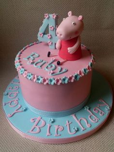 Peppa Pig Cake - by DollybirdBakes @ CakesDecor.com - cake decorating website